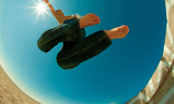 Response thumb lookingup panoramic jump